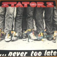 Discos de vinilo: STATORS - NEVER TOO LATE - LP - AXE KILLER 1985 FRANCE 7005 - SORTILEGE - N MINT. Lote 30317875