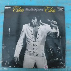 Discos de vinilo: ANTIGUO DISCO DE VINILO DE ELVIS PRESLEY - THAT'S THE WAY IT IS - RCA STEREO - MADRID 1971 - EN MUY . Lote 30322469