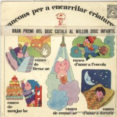 Discos de vinilo: CANÇONS PER ENCARRILAR CRIATURES. ESPINÀS. BORRULL. CONCÈNTRIC 1967. Lote 30358797