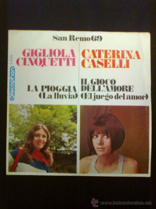 SAN REMO 69 - GIGLIOLA CINQUETTI / CATERINA CASELLI (Música - Discos - Singles Vinilo - Otros Festivales de la Canción)