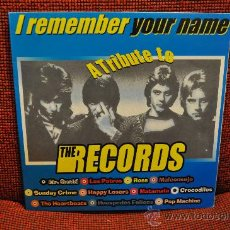 Discos de vinilo: I REMEMBER YOUR NAME - A TRIBUTE TO THE RECORDS. Lote 30393213