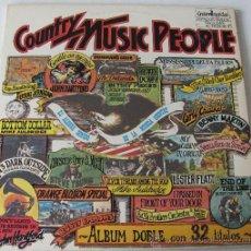 Discos de vinilo: COUNTRY MUSIC PEOPLE - DOBLE LP GUIMBARDA - 1981. Lote 30450025