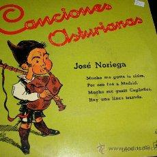 """Discos de vinilo: CARÁTULA EP JOSE NORIEGA """"CANCIONES ASTURIANAS"""". Lote 30455450"""
