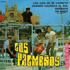 """Discos de vinilo: LOS PALMEÑOS - EP SINGLE VINILO 7"""" - AUTOGRAFIADO - EDITADO EN ESPAÑA - GRANADA + 3 - BELTER 1969. Lote 30458051"""
