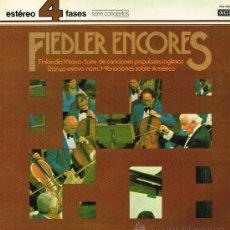 Discos de vinilo: FIEDLER ENCORES - THE BOSTON POPS ORCHESTRA. ARTHUR FIEDLER - LP 1981 - . Lote 30476005