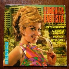 Discos de vinilo: CONCHITA BAUTISTA - POR TU NUEVO AMOR - DOS CRUCES - MACARENAS - BELTER - PROMOCIONAL. Lote 30476123