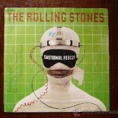 Discos de vinilo: THE ROLLING STONES - EMOTIONAL RESCUE - DOWN IN THE HOLE - PATHE MARCONI EMI - EDICIÓN FRANCESA. Lote 30478195