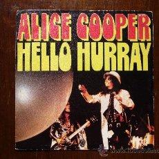 Discos de vinilo: ALICE COOPER - HELLO HURRAY - GENERATION LANDSLIDE - WARNER BROSS RECORDS - EDICIÓN FRANCESA. Lote 30478935