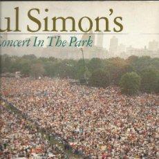 Discos de vinilo: 3315-LP PAUL SIMON (1 DISCO)- CONCERT IN THE PARK- WARNER. Lote 30497053