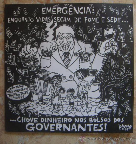 EMERGENCIA: ENQUANTO VIDAS SECAM DE FOME E SEDE (1999) SUPER RARO LP DE PUNK/HC BRASILEÑO!!! (Música - Discos - LP Vinilo - Punk - Hard Core)
