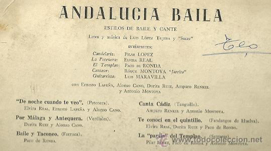 Discos de vinilo: PILAR LOPEZ (BAILE) 10¨ (25 CTMS.) DEL SELLO ODEON EDITADO EN ARGENTINA. - Foto 2 - 30218584