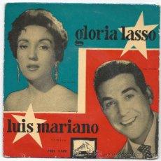 Discos de vinilo: EP- LUIS MARIANO Y GLORIA LASSO- LA VOZ DE SU AMO. Lote 30512463