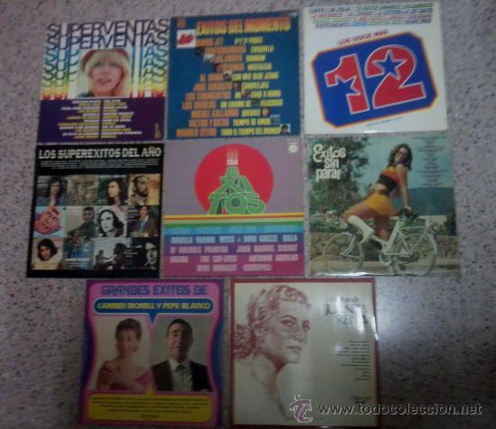 LOTE DE OCHO DISCOS LP VARIADOS RELACIONADOS. (Música - Discos - LP Vinilo - Otros estilos)