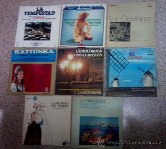 LOTE DE OCHO DISCOS LP DE ORQUESTAS RELACIONADAS. (Música - Discos - LP Vinilo - Otros estilos)