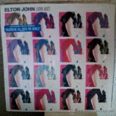 Discos de vinilo: ELTON JOHN – LEATHER JACKETS - LP GEFFEN RECORDS - GHS 24114 - US 1986 - ENCARTE CON LETRAS -. Lote 30530953
