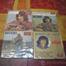 Discos de vinilo: LOTE 3 P + 1 SINGLE 45 RPM / ANTOINE // EDOTADO POR VOGUE. Lote 30564313