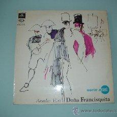 Discos de vinilo: DISCO VINILO. AMADEO VIVES. DOÑA FRANCISQUITA. SERIE AZUL. LP. 1967.. Lote 30572749