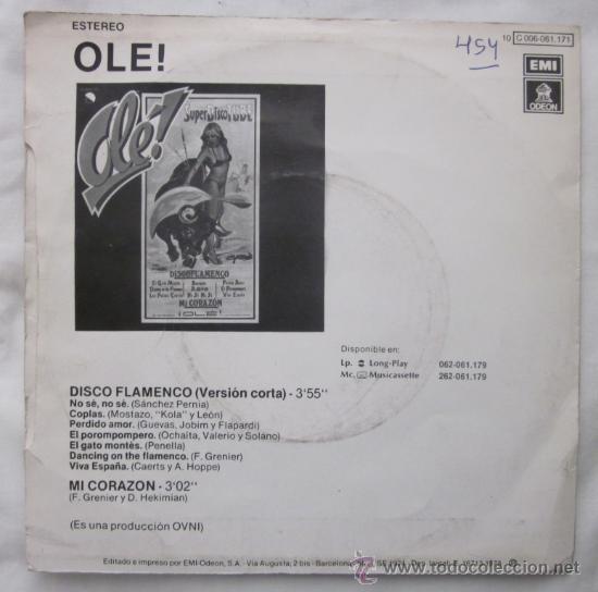 Discos de vinilo: OLÉ! SUPERDISCO TUBE - Discoflamenco - 1978 - Foto 2 - 30578383