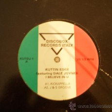 Discos de vinilo: RECORDS ITALY. KUTTIN EDGE.I BELIEVE IN U. 12