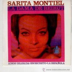 Discos de vinilo: SARITA MONTIEL - SARA - DEL FILM : LA DAMA DE BEIRUT - EP 1965 - PRACTICAMENTE NUEVO. Lote 88117291