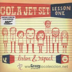 Discos de vinilo: SINGLE EP COLA JET SET LESSON ONE LISTEN & REPEAT LOS FRESONES REBELDES VINILO. Lote 181571485