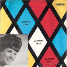 Discos de vinilo: CARMEN CHIA - TE LLEVO EN MI CORAZON + 3 (EP DE 4 CANCIONES) MAYANG 1966 - EX/EX. Lote 30587766
