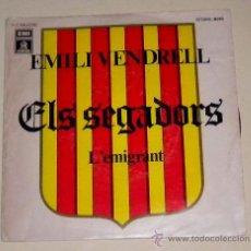 Discos de vinilo: EMILI VENDRELL - ELS SEGADORS - L´EMIGRANT - EMI 1976. Lote 30596446