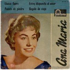 Discos de vinilo: ANA MARIA - LLUEVE FUERA - PUENTE DE PIEDRA +2 - SPAIN 1959 VG++ / VG++. Lote 30603112