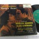 Discos de vinilo: OST ELLOS Y ELLAS - EP SPAIN PS - MARLON BRANDO / JEAN SIMONS - MEGARARE. Lote 30607288