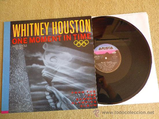 WHITNEY HOUSTON ONE MOMENT IN TIME MAXI SINGLE VINILO 12 JERMAINE JACKSON MUY RARO (Música - Discos de Vinilo - Maxi Singles - Jazz, Jazz-Rock, Blues y R&B)