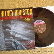 Discos de vinilo: WHITNEY HOUSTON ONE MOMENT IN TIME MAXI SINGLE VINILO 12 JERMAINE JACKSON MUY RARO. Lote 30616132