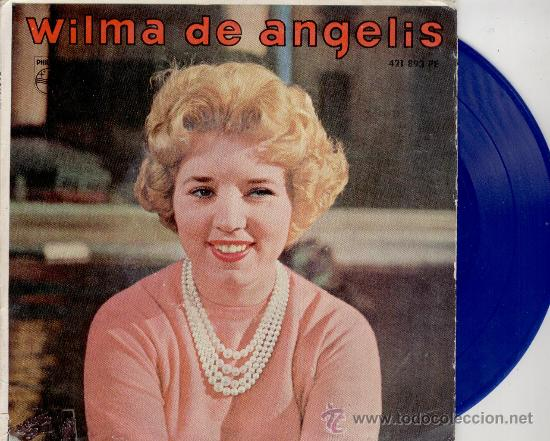 WILMA DE ANGELIS - JUKE-BOX ( LA MAQUINA DE DISCOS ) + 3 - EP SPAIN 1959 - VINILO AZUL VG++ / EX (Música - Discos de Vinilo - EPs - Canción Francesa e Italiana)