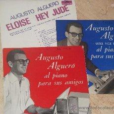 Discos de vinilo: LOTE DE TRES EP AUGUSTO ALGUERO. Lote 30626775