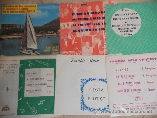 LOTE DE SEIS EP DE ORQUESTAS Y CONJUNTOS- (Música - Discos de Vinilo - EPs - Grupos Españoles 50 y 60)