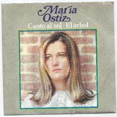 Discos de vinilo: 3436- DISCO SINGLE- MARIA OSTIZ- CANTO AL SOL- HISPAVOX. Lote 30631514