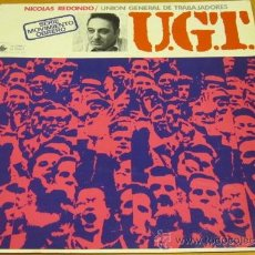Discos de vinilo: UGT - NICOLAS REDONDO - LP - EDUARDO SOTILLOS - MEDITERRANEO 1977 SPAIN - N MINT. Lote 30644399