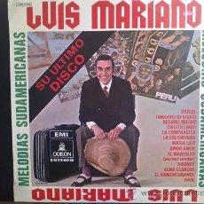 Discos de vinilo: LUIS MARIANO, MELODÍAS SUDAMERICANAS - DISCO DE VINILO LP. Lote 30639605