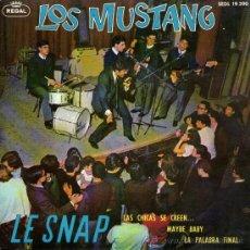 Discos de vinilo: LOS MUSTANG - EP SINGLE VINILO 7'' - CON UN TEMA INTERPRETADO EN FRANCÉS - LE SNAP + 3 - REGAL 1964. Lote 30657675