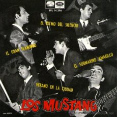 Discos de vinilo: LOS MUSTANG - EP SINGLE VINILO 7'' - BEATLES COVER - SUBMARINO AMARILLO + 3 - EMI 1966. Lote 30657689