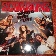 Discos de vinilo: SCORPIONS-WORLD WIDE LIVE 2 X LP. Lote 30657919