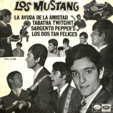 Discos de vinilo: LOS MUSTANG - EP SINGLE VINILO 7'' - 2 BEATLES COVER - SARGENTO PEPPER'S + 3 - EMI 1967.. Lote 30671562