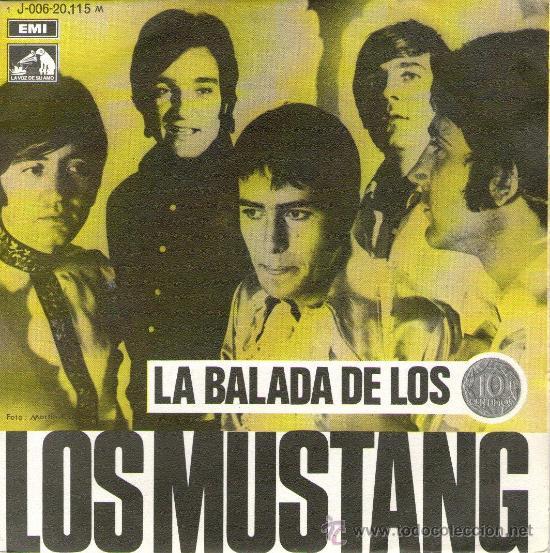 LOS MUSTANG - SINGLE 7'' - LA BALADA DE LOS DIEZ CÉNTIMOS + 1 - EMI 1969 (Música - Discos - Singles Vinilo - Solistas Españoles de los 50 y 60)