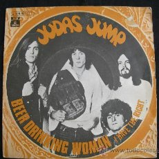 Disques de vinyle: JUDAS JUMP // BEER DRINKING WOMAN - I HAVE THE RIGHT // AÑO 1970. Lote 30675382
