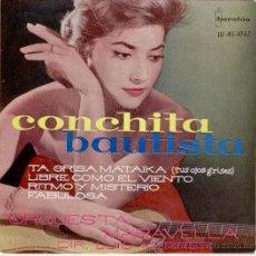 Discos de vinilo: CONCHITA BAUTISTA - TUS OJOS GRISES ( TA GRISA MATAIKA ) + 3 - EP SPAIN 1961 - EX / EX. Lote 30678891