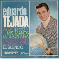 Discos de vinilo: EDUARDO TEJADA - AYER ( TEMA BEATLES ) - DOU LIOU DOU LIOU SAINT TROPEZ - EP SPAIN 1965 EX / EX. Lote 30679085