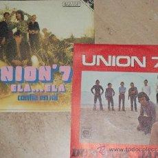 Discos de vinilo: UNION 70- LOTE DE SUS DOS SINGLES-. Lote 171784685