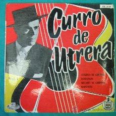Discos de vinilo: SINGELS CURRO DE UTRERA 1959. Lote 30693517