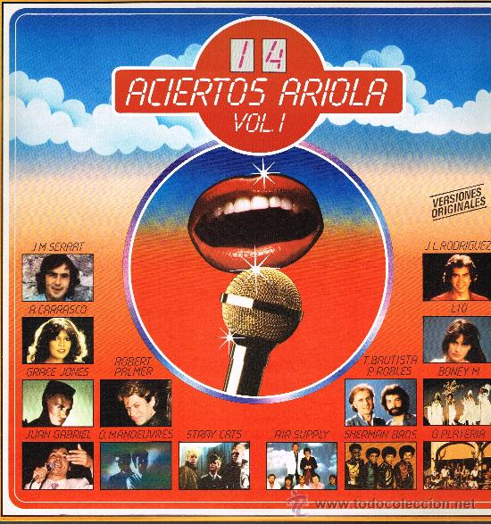 STRAY CATS / JUAN GABRIEL / SERRAT / LIO / BONEY M, ETC - 14 ACIERTOS ARRIOLA - LP 1981 - COMO NUEVO (Música - Discos - LPs Vinilo - Música Infantil)