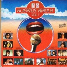 Discos de vinilo: STRAY CATS / JUAN GABRIEL / SERRAT / LIO / BONEY M, ETC - 14 ACIERTOS ARRIOLA - LP 1981 - COMO NUEVO. Lote 30794441