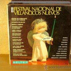 Disques de vinyle: MANEL, ELS DOS, LUIS IRIONDO, LOS GRITOS Y MAS - II FESTIVAL DE VILLANCICOS NUEVOS - 1968. Lote 30727292